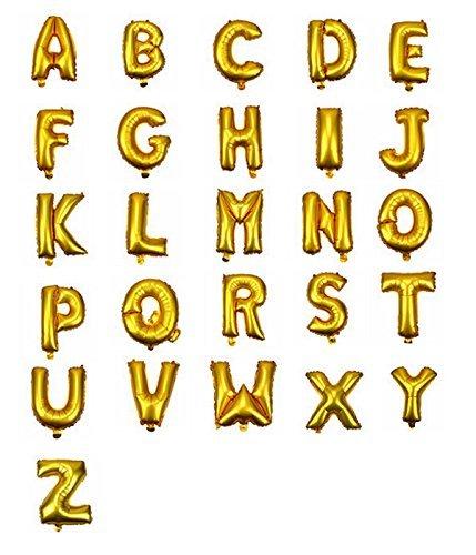 Gold 40,6cm Alphabet Buchstabe A-Z und Zahlen Folie balloons-gold Farbe, Letter (Party Supplies In Nähe Der)