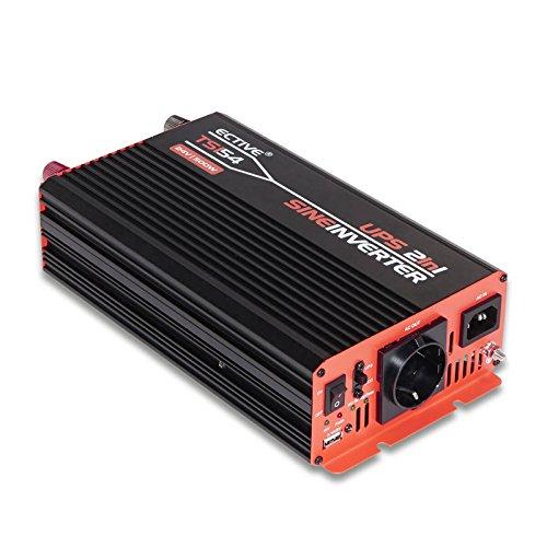 ECTIVE 500W 12V zu 230V TSI-Serie Reiner Sinus Wechselrichter mit NVS in 6 Varianten: 500W - 3000W