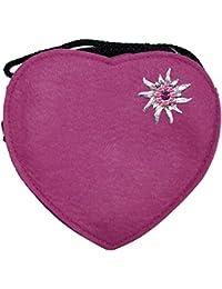 Trachtenland - Herz Trachtentasche mit Edelweiß, Hirsch oder Herz Applikation - Schöne Handtaschen zum Oktoberfest Dirndl