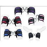 2Fit Polea de correa de tobillo correa de muslo de la pierna Puños de ejercicio correas de puño, cable accesorio de elevación de doble anilla de máquina Multi Gimnasio Levantamiento de pesas D-Ring Azul azul