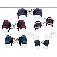 2Fit anelli per allenamento, con cinturino alla caviglia con polsino, polsini in lavatrice Cinghia doppia per sollevamento Multi Gym-Puleggia con anello a D per sollevamento pesi, altezza