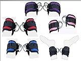 2Fit Polea de correa de tobillo correa de muslo de la pierna Puños de ejercicio correas de puño, cable accesorio de elevación de doble anilla de máquina Multi Gimnasio Levantamiento de pesas D-Ring Rosa rosa