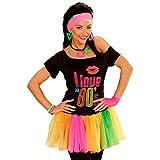 Buntes Tutu neonfarbenes Ballettröckchen 80er Kostüm Zubehör leuchtender Minirock greller Petticoat Mottoparty Outfit Disco Accessoire