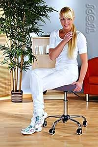 Tabouret a roulettes siege rond ergonomique table massage LILAS