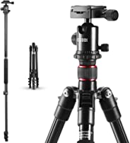 Treppiedi Fotocamera - ESDDI 162cm Treppiede Alluminio Cavalletto Fotografico Con Monopiede e 360° Testa a Sfera per Canon Nikon Sony Samsung Olympus DSLR