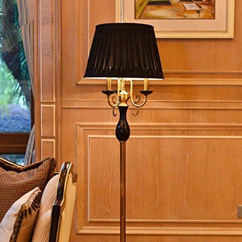 Natures Harvest (The harvest season- Schwarz Natur Marmor Villa Hotel Modell Boden Lichter Europäische Wohnzimmer Study Schlafzimmer Beleuchtung / E27 (schwarz) A+)