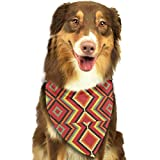 Rghkjlp Retro Stripe Pet Bandana Washable Reversible Triangle Bibs Scarf - Kerchief for Small/Medium/Large Dogs & Cats