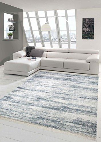 Alfombra de la impresión de alfombras lavables alfombra alfombra diseñador contemporáneo salón Heather crema gris Größe 80x150 cm