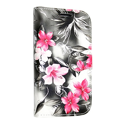 iPhone 7 Hülle , Kamal Star® [ Rose White Diamond Book ] Kunstleder Tasche PU Schutzhülle Tasche Leder Brieftasche Hülle Case Cover + Gratis Universal Eingabestift (Rose White Diamond Book) Pink Flower Dark Grey Book