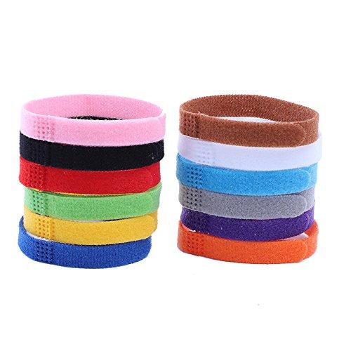 CAOQAO 12 Farben Halsbänder ID D 'Kennzeichnung Komfortabel langlebig verstellbares selbstklebendes Klebeband für Katze, Kätzchen, Welpe, Kleiner Hund - Mehrfarbig