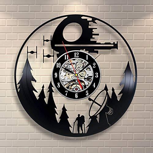 Thema Antik Stil CD Rekord Wanduhr kreative Kunst Vinyl hängende Uhr handgemachte Wand Dekor Uhr ()