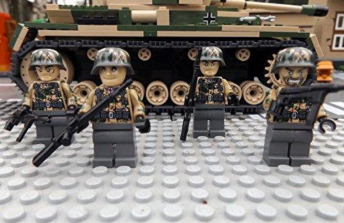 Modbrix 9919 – ✠ 2 Stück Custom Minifiguren STURMPIONIERE Deutsche Wehrmacht Soldaten aus original Lego® Teilen ✠ - 3