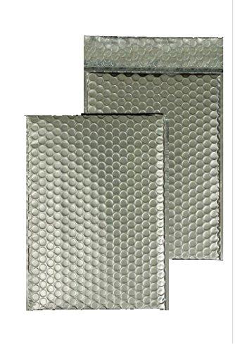 Preisvergleich Produktbild Luftpolstertaschen ALU mit Klebestreifen ohne Fenster 200 x 260 mm Silber 10Stck