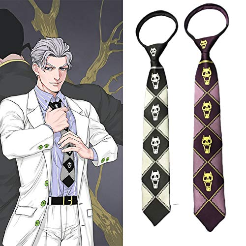 redCherry Anime JoJo's Bizarre Adventure KILLER QUEEN Kira Yoshikage Cosplay Tie -