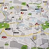 Stoff Meterware Baumwolle Stadtplan Berlin Karte Plan