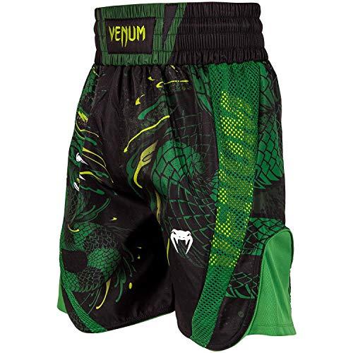 Venum Herren Green Viper Boxen Shorts, Schwarz/Grün, M
