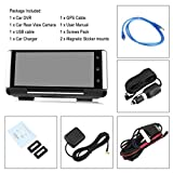 Full HD 1080P 7 Zoll IPS Touch Screen Auto DVR Smart Auto Rückspiegel Video Record Kamera Dash Cam Bluetooth Freisprecheinrichtung - Schwarz