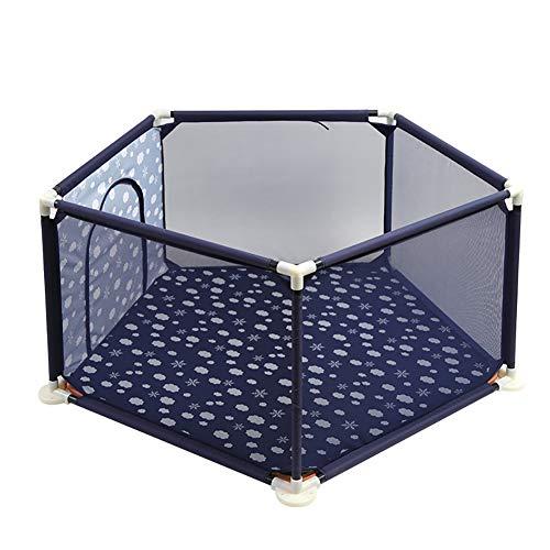 GXYGWJ Kindersicherheits-Spielplatzkinder-Antiherbst-Spielzaun des Babyzauns Innen Baby-Sicherheitslaufstall (Color : Blue) -
