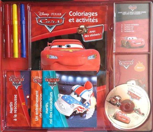 Coffret Cars : Avec 1 livre coloriages e...