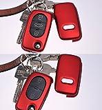 Klapp Schlüssel Hülle Hartschale Cover Dunkelrot für Audi A4 B6 A3 8L A6 C5 A2