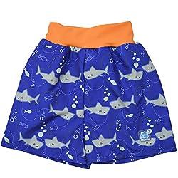 Splash About Baby Badeshorts Happy Nappy Board Blau - Shark Orange, XX-Large