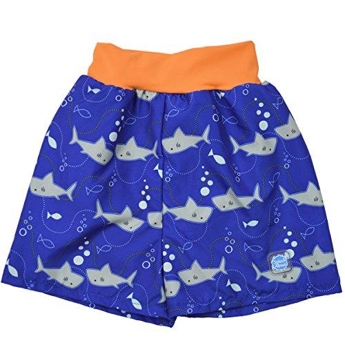 Splash About HNBSSOL - Pantaloncito pañal para bebé niño, color naranja con diseno de tiburones, 6-14 Meses