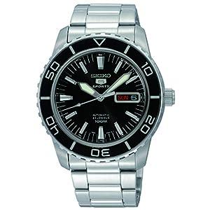3edca08cb939 Seiko Reloj Analógico Automático para Hombre con Correa de Acero Inoxidable  – SNZH55K1