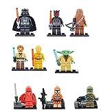 9 x Starwars Minifigures (Set) - Darth Vader, Yoda, Darth Maul + More - Lego Fit