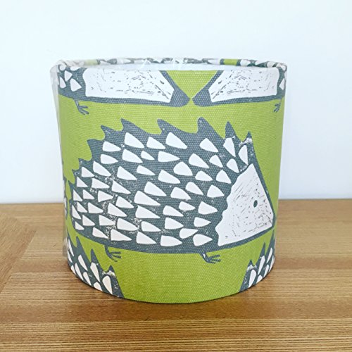 handmade-20cm-fabric-lampshade-featuring-spike-hedgehog-by-scion-uk-kiwi-colour-way-for-table-floor-