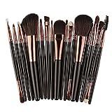 Vovotrade® Vovotrade Weiche Haare und Holz Griff 18 Stück MakeupTools Set Make Up Pinsel Set_Schwarz