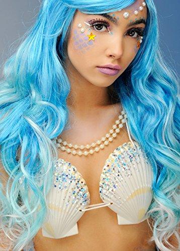 Magic Box Int. Damen Mermaid Silver Glitter Shell - Mermaid Magic Kostüm