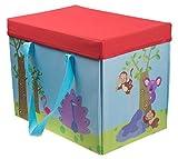 """Clever Creations Kinder Aufbewahrungsbox & Spielmatte mit Dschungel-Motiv in einem - faltbar - als Schrank-Organizer für Spielzeug geeignet - 9,5 x 10,75 x 13,75"""" (24 x 27,3 x 35 cm)"""