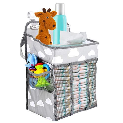 Zwini Baby Nursery Organizer Colgante portátil Pañal Pañal Caddy Organizador Muitifuctional Pañal...