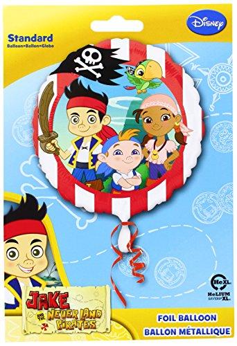 Disney Amscan International Luftballon, Jake und die Nimmerland Piraten, 46 cm (Jake Und Nimmerland-party Die)