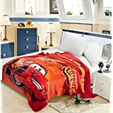 Nityakshi Creations Kids 3D Cartoon Printed Ac Blanket For Single Bed (Product As Per Image) | Ac Blankets Single For Kids (McQueen Car)