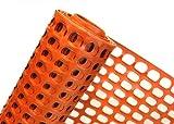 2,4m² ABSPERRZAUN in 1,2m x 2m Bauzaun Baustellen-Zaun aus Kunststoff Masche 50mmx35mm (orange)