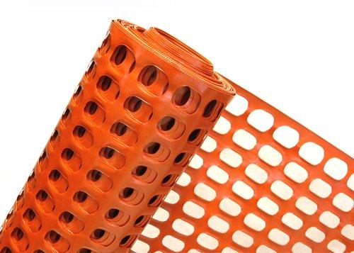 HaGa® Absperrzaun Bauzaun Warnzaun 1,2m Höhe 50mmx35mm Masche (Meterware)