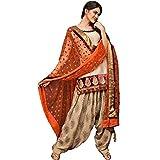 Ethnic Bazaar Women's Cotton Beige Semi ...