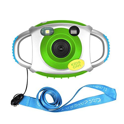 Miavogo Digitalkamera Camcorder Kamera für Kinder 500 Millionen Pixel 1.45 Zoll Bildschirm 1.3 MP mit Blitzlicht (Kamera Grün)