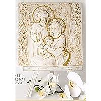 Dipinto Quadro Santo Sacra famiglia su Stand di legno - Stand Sacra Famiglia