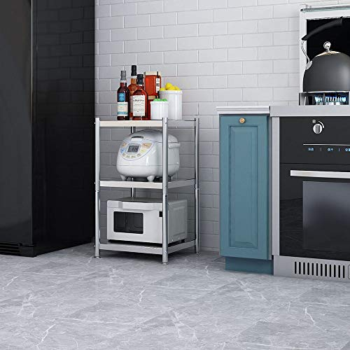 Estante Horno microondas 3-Tier cocina metal almacenamiento
