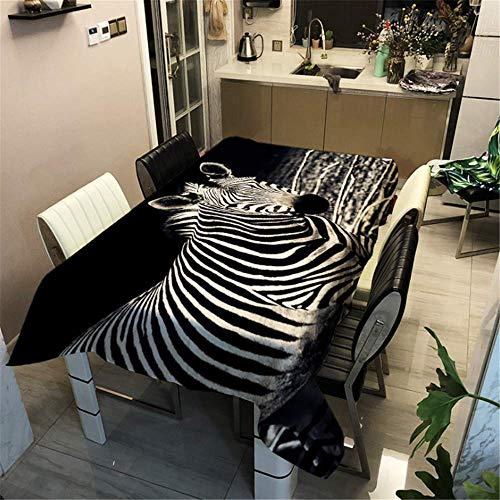 SONGHJ Polyester Baumwolle Zebra Animal Print Tischdecke Rechteckige wasserdichte ölbeständige Tischdecke Home Hochzeit Tischdecke D 40x40cm / - Kind Zebra Hoodie Kostüm