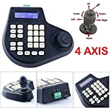 4 Axis Dimension Joystick CCTV Keyboard Controller for Analog PTZ Speed Dome Camera