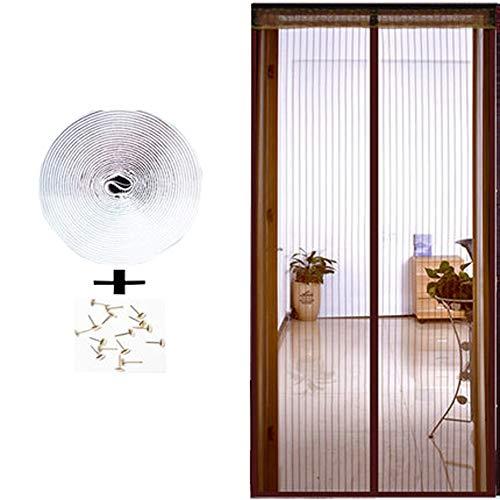 ALSGON Magnetvorhang für Terrassentür, Kinder und Haustiere der automatischen Schließung der Bildschirm Fenster Netze Fliegengitter Tür Balkontür Wohnzimmer Schiebetür Terrassentür,90x200cm(35x79in)
