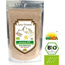 Maca (500g) polvo puro de la raíz de maca organica, polvo de Maca original del Peru es fantástico para estimular los niveles de energía antes del ejercicio Maca natural alta en vitamina B1, B2, B6, calcio, hierro y zinc