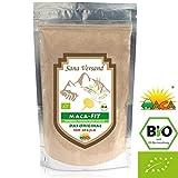BIO Maca Pulver 500g Original aus Peru. Reines Maca Wurzel enthält Vitamine, Aminosäuren und Proteine für mehr Kraft Konzentration und Energie. Vegan, glutenfrei auch für Allergiker, Superfood