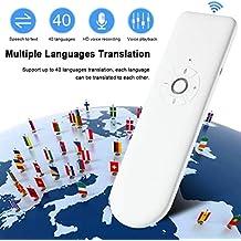 Roebii intelligenter Übersetzer ?Sprachübersetzer in Echtzeit-Sprache,40 Sprachen tragbarer intelligenter Echtzeit-Sprachübersetzer für mehrere Sprachen für Besprechungen, Reisen oder Studien