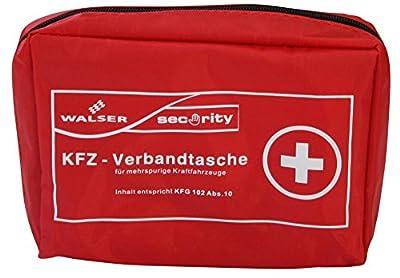 Walser 44155 KFZ Verbandstasche gemäss KFG 102 Abs. 10, 200 x 140 x 65 mm, rot