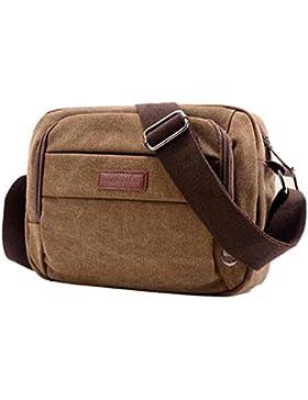 BZLine® Männer Handtasche Schultertasche Outdoorsport Leinentasche Tasche , 24cm*18cm/9.4*7.1