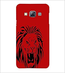 PrintDhaba Lion D-1960 Back Case Cover for SAMSUNG GALAXY A3 (Multi-Coloured)